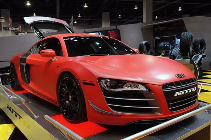 Red 2012 Audi R8