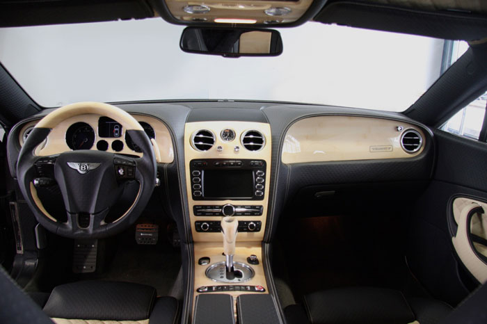 Interior of Bentley Continental GT