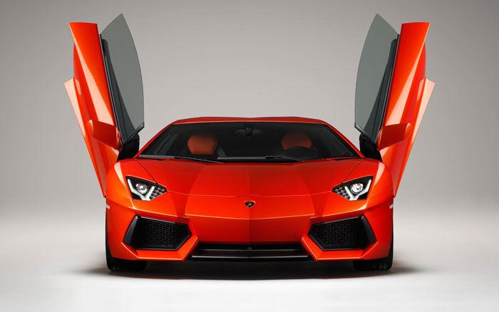 2011 Orange Lamborghini Aventador