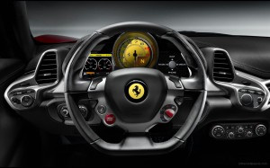 ferrari_458_italia steering designed with inputs from Michael Schumacher